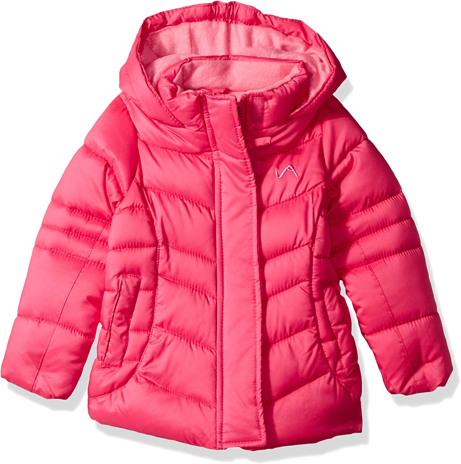 Vertical 9 Girls Fashion Quilted Bubble Jacket with Faux Fur