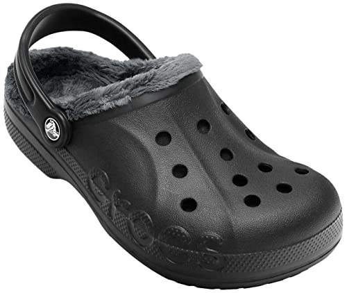 c497ed1afd6474 Crocs Unisex Baya Fleece Clog Black and Graphite Rubber Clogs and Mules -  M5 W7  Buy Online at Low Prices in India - Amazon.in
