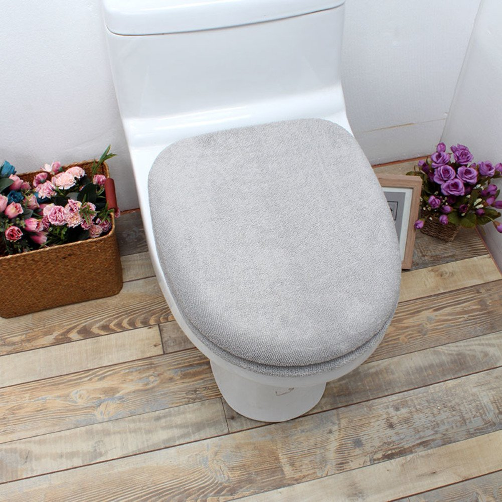 lililili Toilet cushion,Luxury toilet seat cover (Lid cover & Tank cover) Bathroom super warm soft comfy -Oseat Cover machine washed Thicken