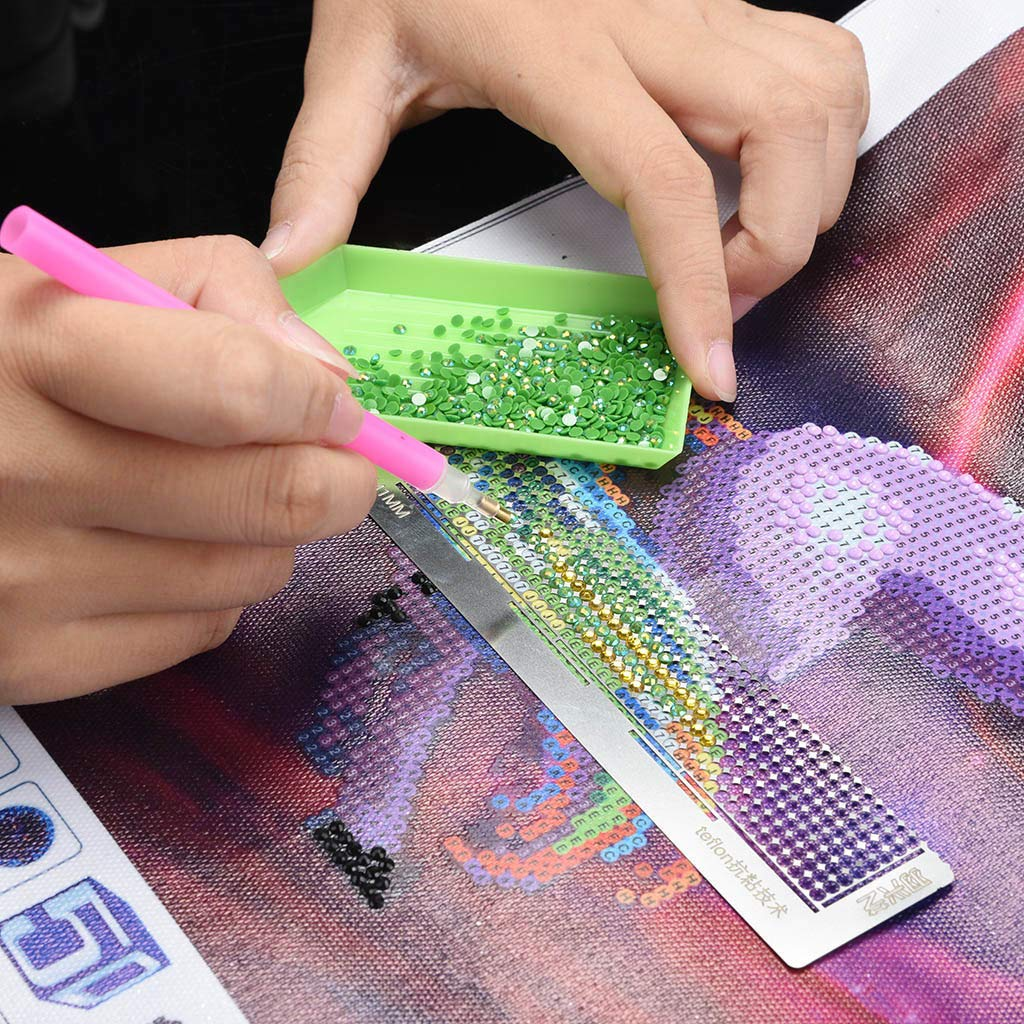 Ydida diamond painting,Drawing Point Net Ruler Embroidery Art Stitch Rulers Tool DIY Fabric Accessory Diamond Drawing Ruler Dot Drill Tool Magic Tool Diamond Embroidery Mesh Ruler