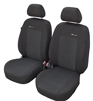 Sitzbezüge hell grau vorne KOS AUDI A3
