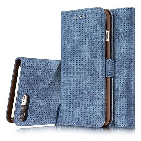 Retro Breathable  Leather Wallet Flip Phone Case For APPLE IPhone 7 Plus 8 Plus