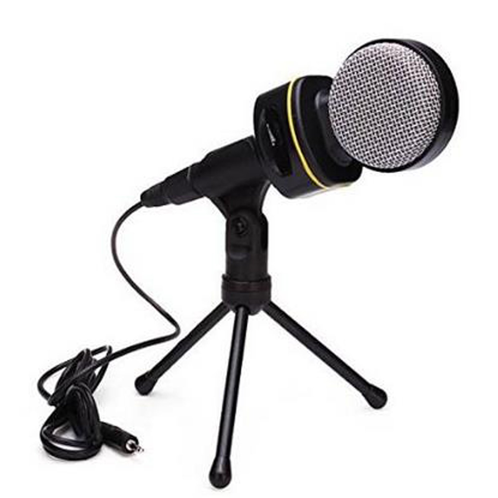 TopePop 3.5 Stereo Plug Professional Condenser Microphone Mic Audio Studio Sound Recording with Shock Mount For PC Computer Laptop Notebook Skype (SF-930)