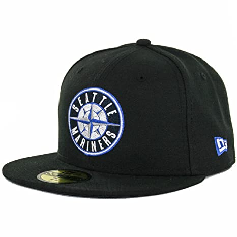 Image Unavailable. Image not available for. Color  New Era 59Fifty Seattle  Mariners Fitted Hat ... e83a915aa