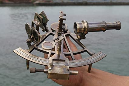 Nautical Sextant Antique Maritime Heavy Brass Navigation Working Sextant Decor. Maritime