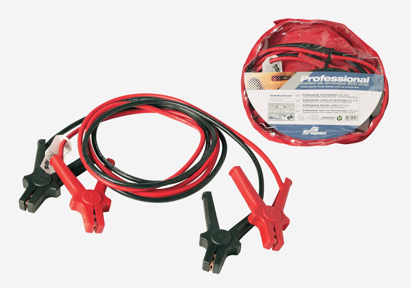 SUMEX 2707003 T/üv Cables Arranque Cobre 200 AMP 3 m 16 mm Gs