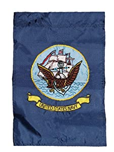 Ramsons Imports 12x18 United States Navy Garden Flag Nylon Embroidered USN Military