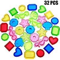 32 Pieces Sinking Dive Gem Pool Toy Sinking Diving Gems Colorful Acrylic Gemstones for Summer Pool Party Favors