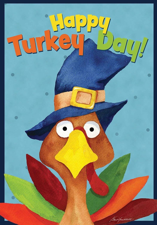 Briarwood Lane Turkey Day Thanksgiving Garden Flag Holiday Humor 12.5