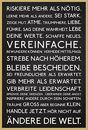 Amazon.de: Motivational - Riskiere mehr - Motivations Poster Plakat ...