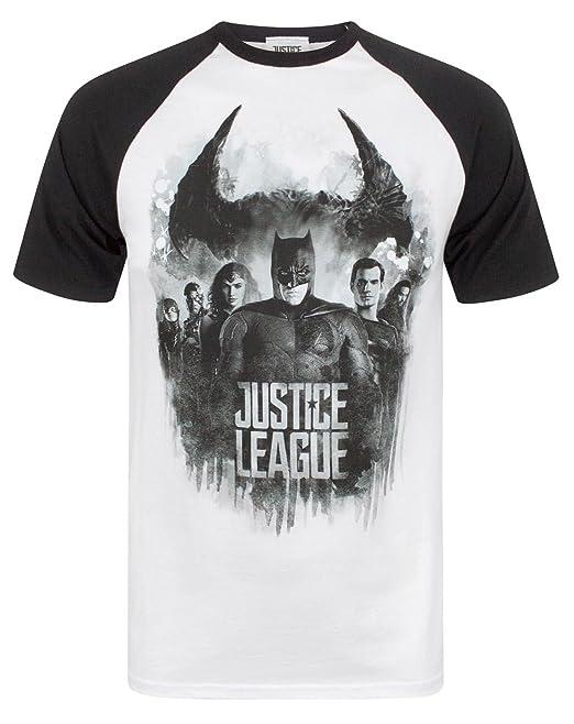 Justice League Character Line Up Raglan Men's T-Shirt NFwfcs