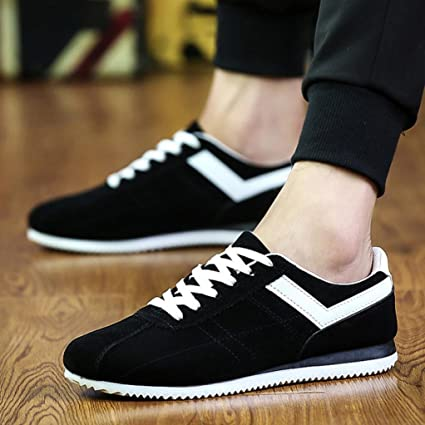 cd67c2532ef02 Hemlock Men Sneakers, Men's Lace Up Running Sports Shoes Athletic Shoes  Casual Outdoors Shoes (US:7.5, Black)