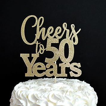 Cheers Zu 50 Jahren Glitzer Kuchen Topper Sie Jahr 30 40 50 60