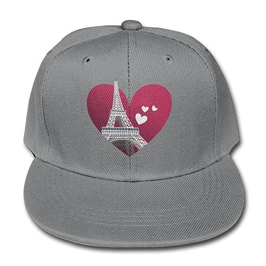 Paris Eiffel Tower Red Heart Adjustable Baseball Cap Snapback Hat Boy and  Girls cfc9a091d49d