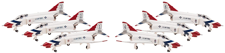 F-4E, USAF, Thunderbirds (twin seat) 6in1 Set, Maßstab 1:200 Hogan 60005
