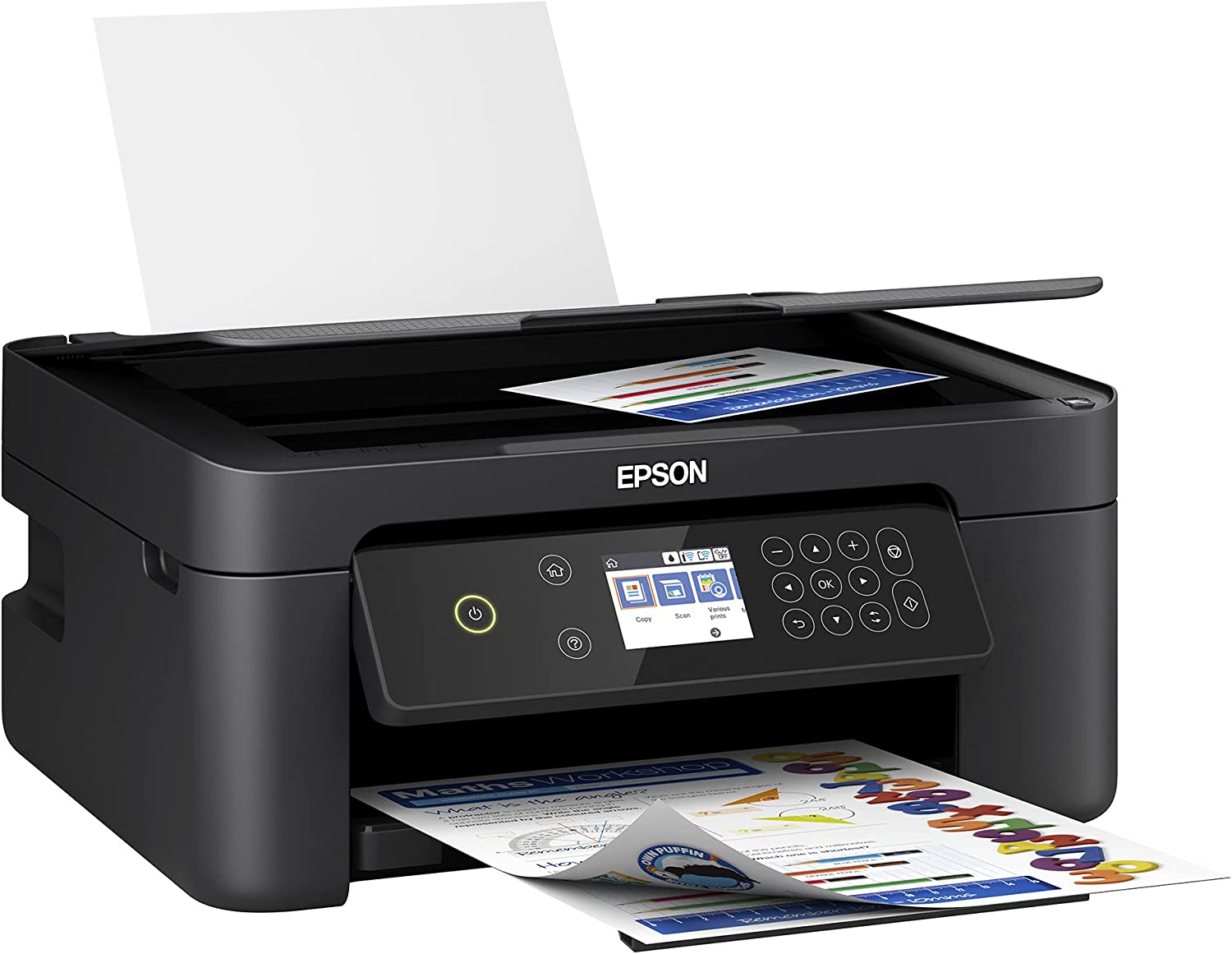 Epson Inkjet Color Printer Expression Home All in one 3-Function Printer Scanner Copier Wireless Fast Print high Accuracy dpi auto 2 Side Print