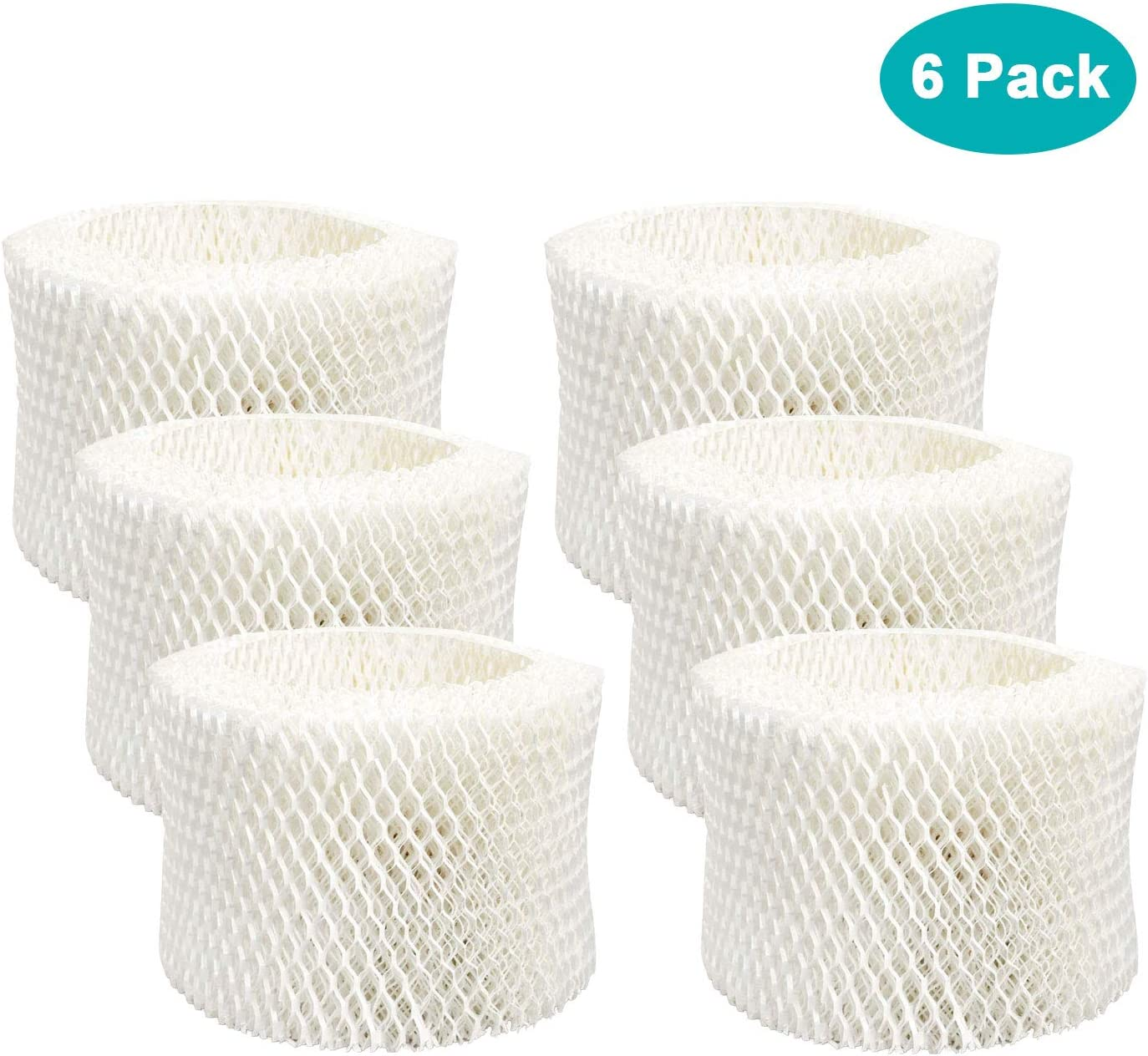 Lemige 6 Pack HAC-504 Humidifier Filters for Honeywell Humidifier HAC-504, HAC-504AW, HAC504V1, HCM350, HCM-350W, HCM-300T, HCM-315T, HCM-600, HCM-710, Replacement Filter A,