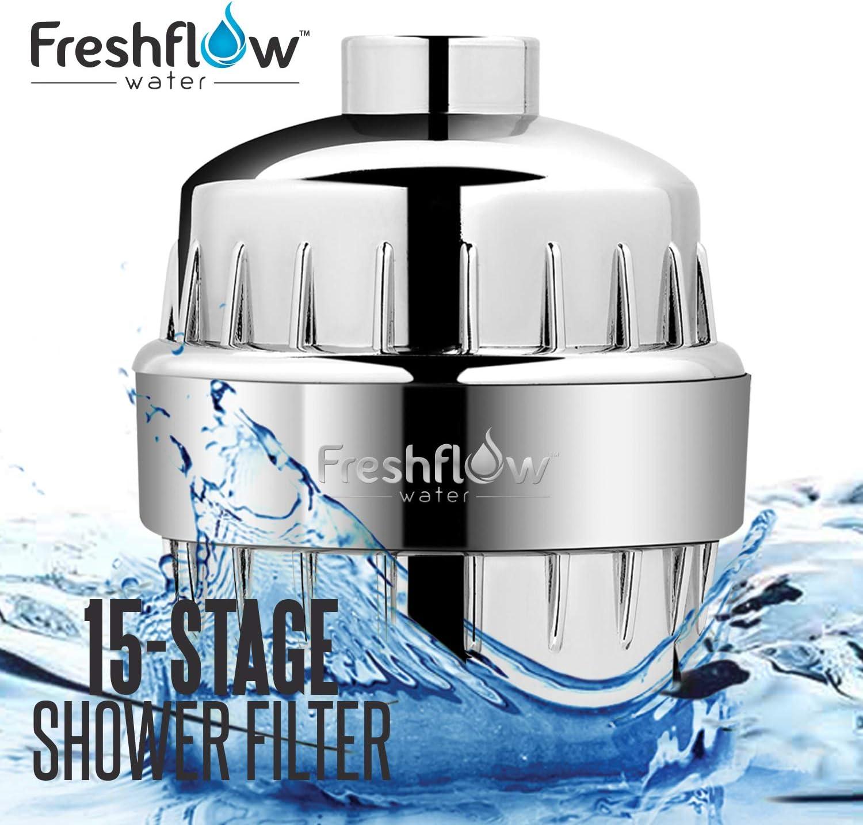 Freshflow Water 15 Stage Shower Head Water Filter