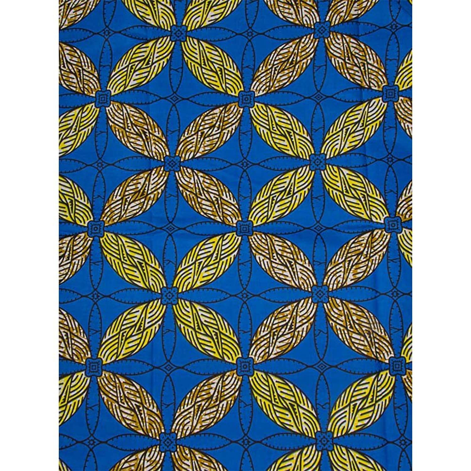 Premier African Super Deluxe Wax Leaf Royal Blue Patterns For Wedding sw1410019