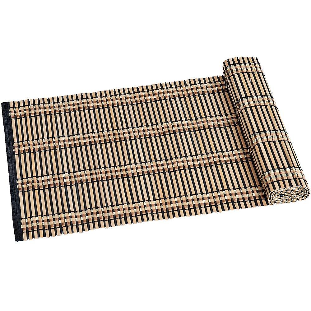 Kesper - Camino de mesa (bambú, 335 x 1180 mm), color marrón y negro 52410