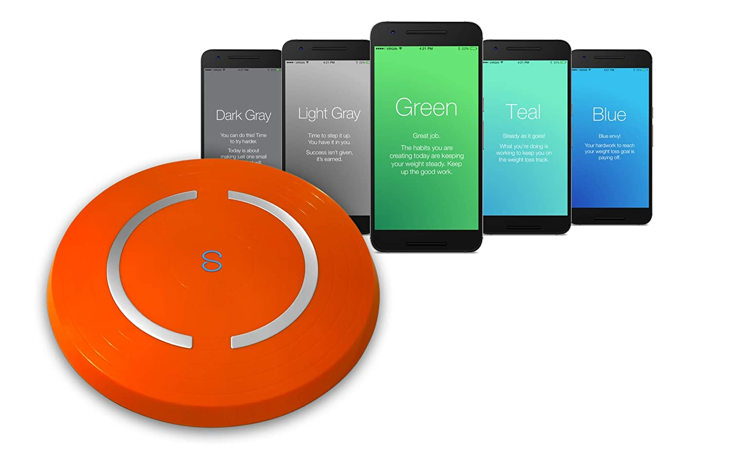 Shapa Smart Scale and App (Orange)