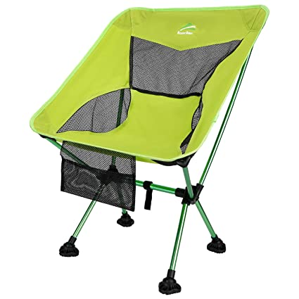 Hiking Portable Lightweight Backpacking Chair with All-Terrain Dynamic Adjustment Feet/& Heavy Duty 300lbs for Outdoor Camp BERSERKER OUTDOOR Ultralight Compact Folding Camping Chair