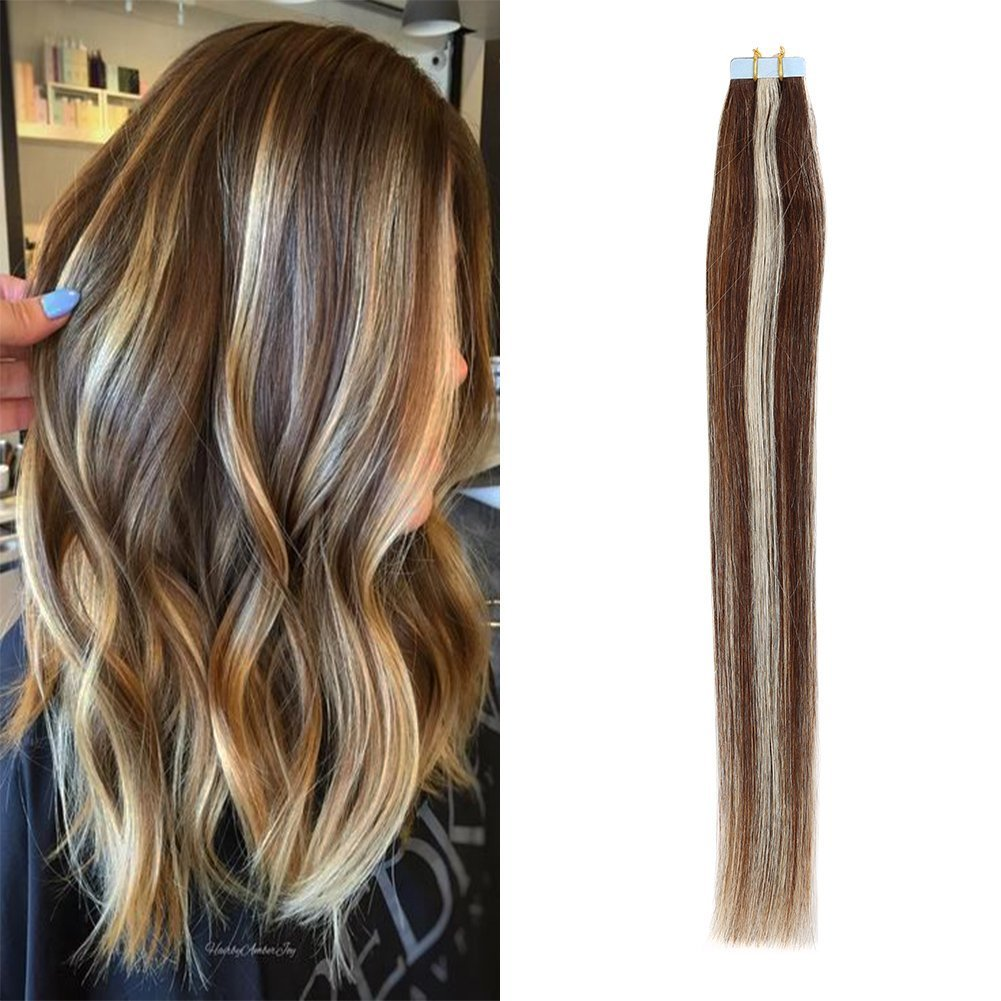 Amazon Thefashionway 16 24 Inches Human Hair Extensions Tape