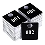 Zilpoo 2 Sets - Plastic Numbered Tags, Coat Room