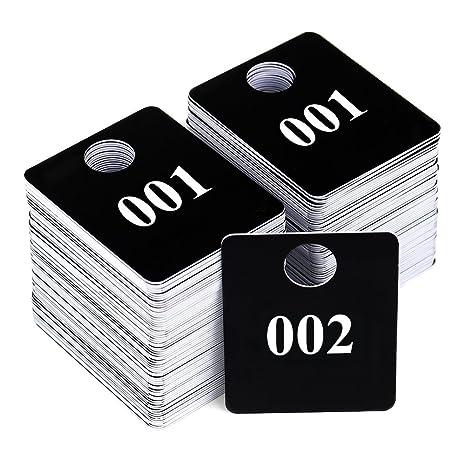Numeri Per Guardaroba.2 Set Plastica Numerato Etichette Coat Room Checks