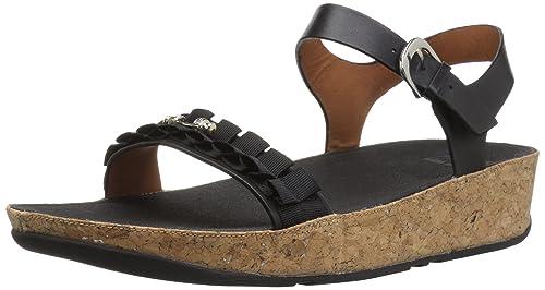 e85951ca7150a Fitflop Womens Ruffle Back-Strap Open Toe Sandals  Amazon.co.uk ...