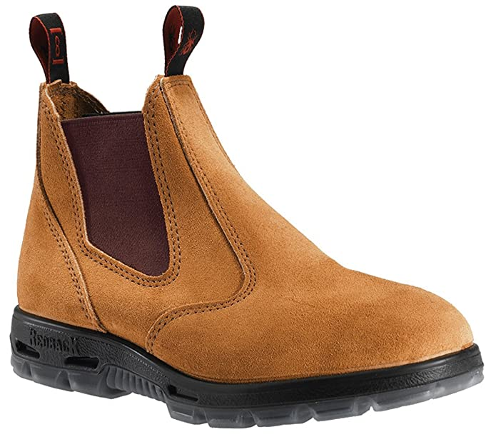01bcd6ce75c5d Redback Work Boots UBBA Easy Escape Soft Toe Banana Suede Leather Slip On  Boot (US9/UK8 MENS)