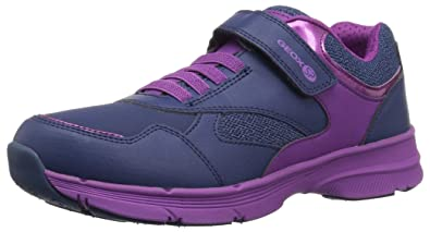 0ab45df43f Geox Hoshiko Girl 4 Velcro Sneaker, Navy/Purple 27 Medium EU Toddler (10