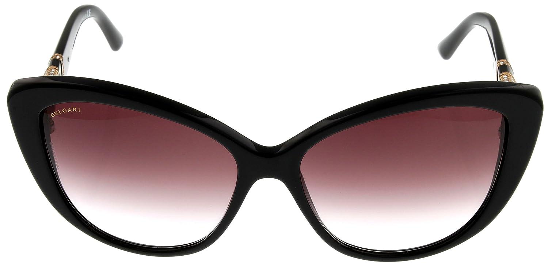 Amazon.com: Bvlgari anteojos de sol Womens Negro Cateye ...