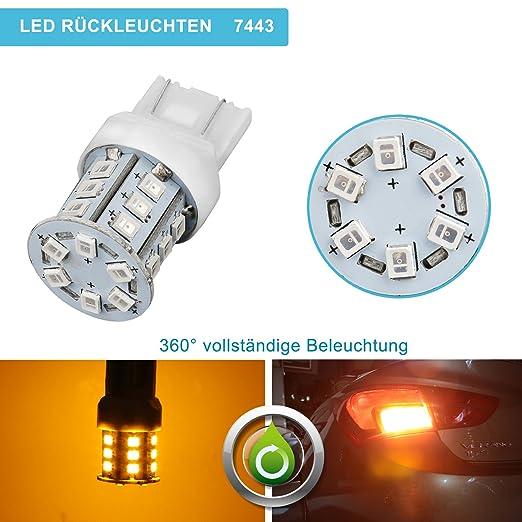 29 opinioni per Confezione 2 Lampade ZISTE2835 a LED Super LuminoseGiallo per W21W T20 7443 7440