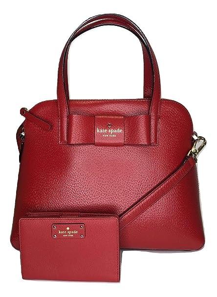 741690996b Amazon.com: Kate Spade New York Matthews Street Maise WKRU4027 Bundled with  Matching Tellie Wallet (Red Carpet): Home & Kitchen