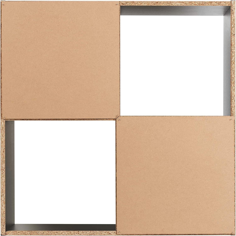 Choice of Colour Hartleys Black 4 Cube Unit /& 2 Storage Boxes