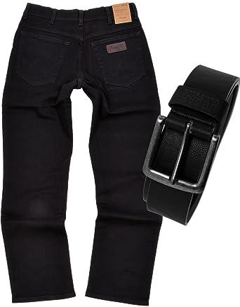b68ef0437f78 Wrangler TEXAS STRETCH Herren Jeans Regular Fit inkl. Gürtel  Amazon.de   Bekleidung