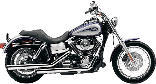 Cobra 3 Inch Slip-On Chrome Mufflers with Tips for 2008-2011 HD Fat Bob Models