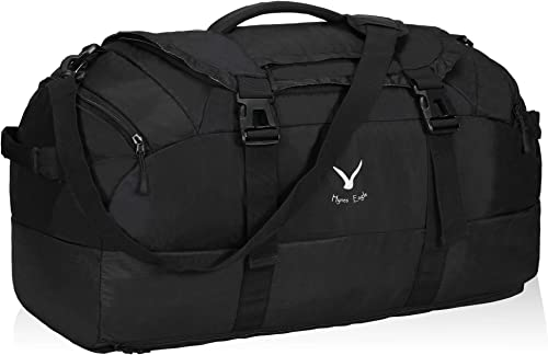 Hynes Eagle 65L Duffel Backpack Bag Gym Bag Travel Backpack, Black
