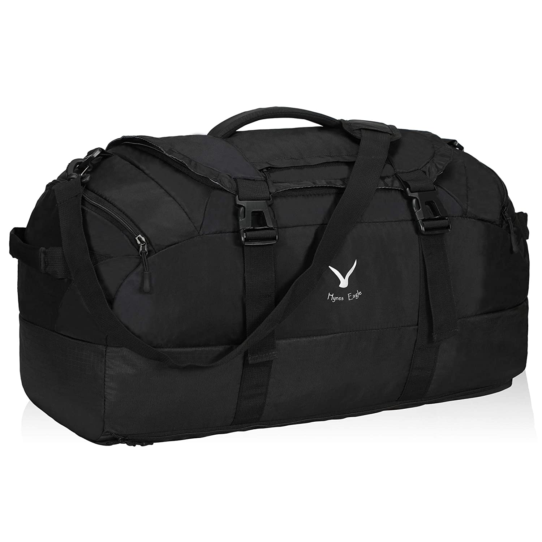 Hynes Eagle 65L Duffel Backpack Bag Gym Bag Travel Backpack, Black
