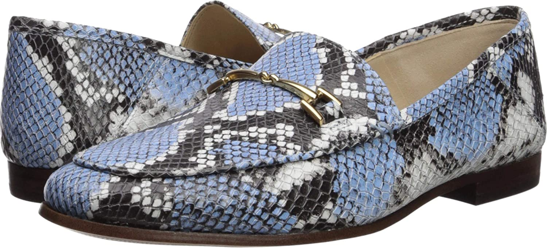 Cornflower bluee Multi Exotic Snake Print Leather Sam Edelman Women's Loriane Loafer Flats