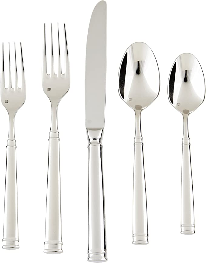 Fortessa Bistro 18 10 Stainless Steel Flatware 5 Piece Place Setting Service For 1 Flatware Sets