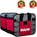 Car Trunk Organizer Collapsible Waterproof Grocery Cargo Storage Container for SUV Auto Car Trunk Vehicle Jeep
