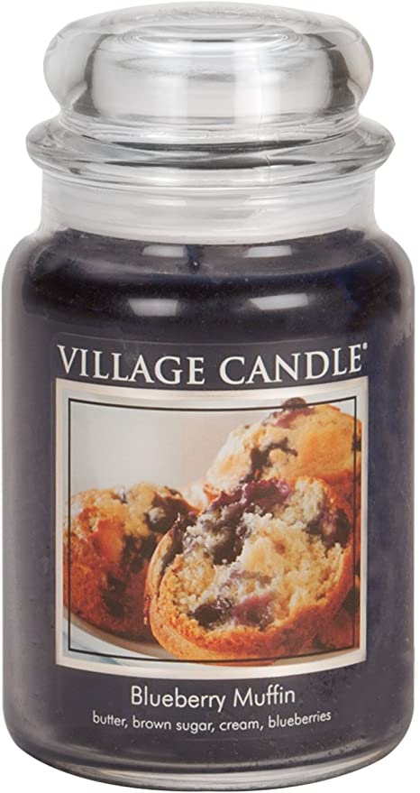 Village Candle Blueberry Muffin 26 oz Glass Jar Scented Candle Large