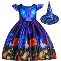 ISLAND Shop ハロウィン 仮装 2点セット 子供 女の子 ドレス+帽子 クリスマス サンタ プリンセスなりきり ベビー 子供 キッズ 魔女 悪魔 ウィッチ ワンピース コスプレ 衣装 子供用 キッズドレス