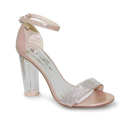 Lunar Womens Gabriella Perspex Heels  Amazon.co.uk  Shoes   Bags