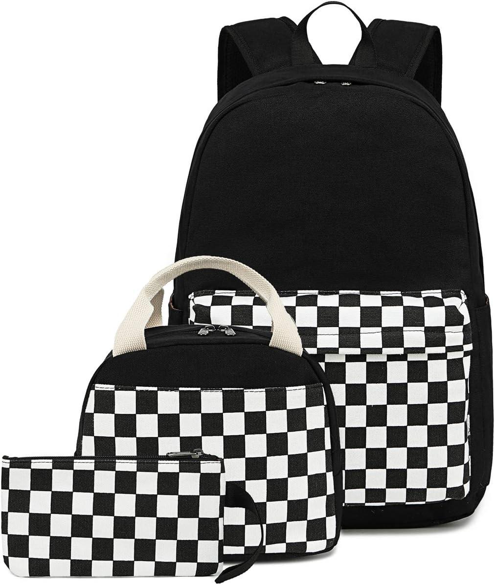 Elephant Teal CAMTOP Backpack for Teens Girls Canvas School Bag Set Laptop Bag College Bookbag