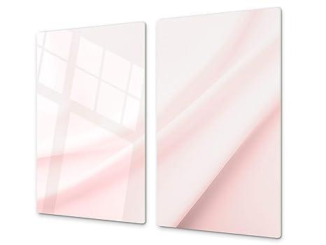 Cubre vitro Resistente a Golpes y arañazos - Tabla de Cortar de Vidrio Templado - Encimera de Trabajo – UNA Pieza (60 x 52 cm) o Dos Piezas (30 x 52 ...