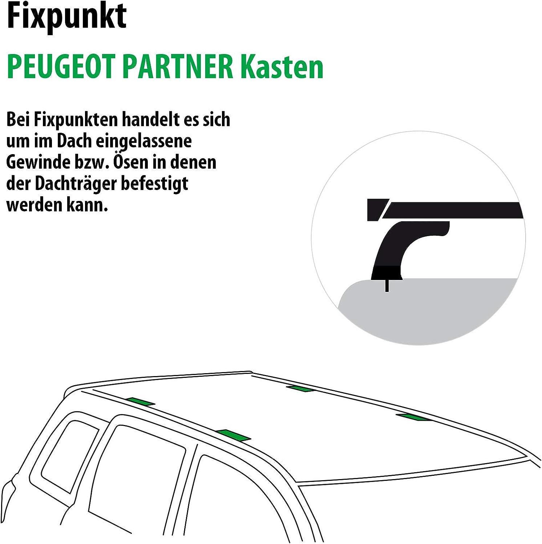 Dachtr/äger Tema f/ür Peugeot Partner Kasten 118848-06739-2 Rameder Komplettsatz