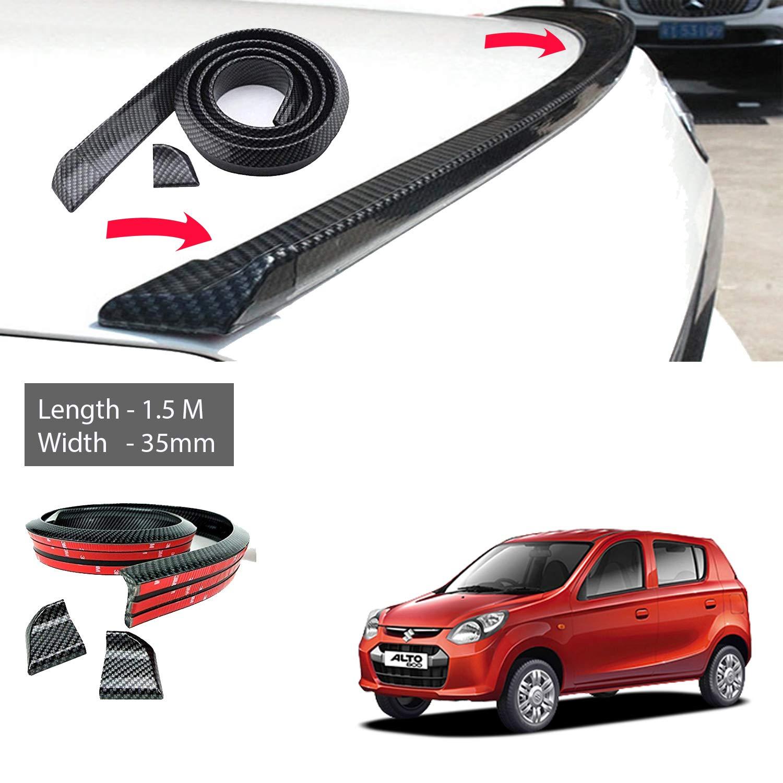5m x 35mm carbon fiber car rear roof trunk spoiler wing lip sticker carbon black for maruti suzuki alto 800 old amazon in car motorbike